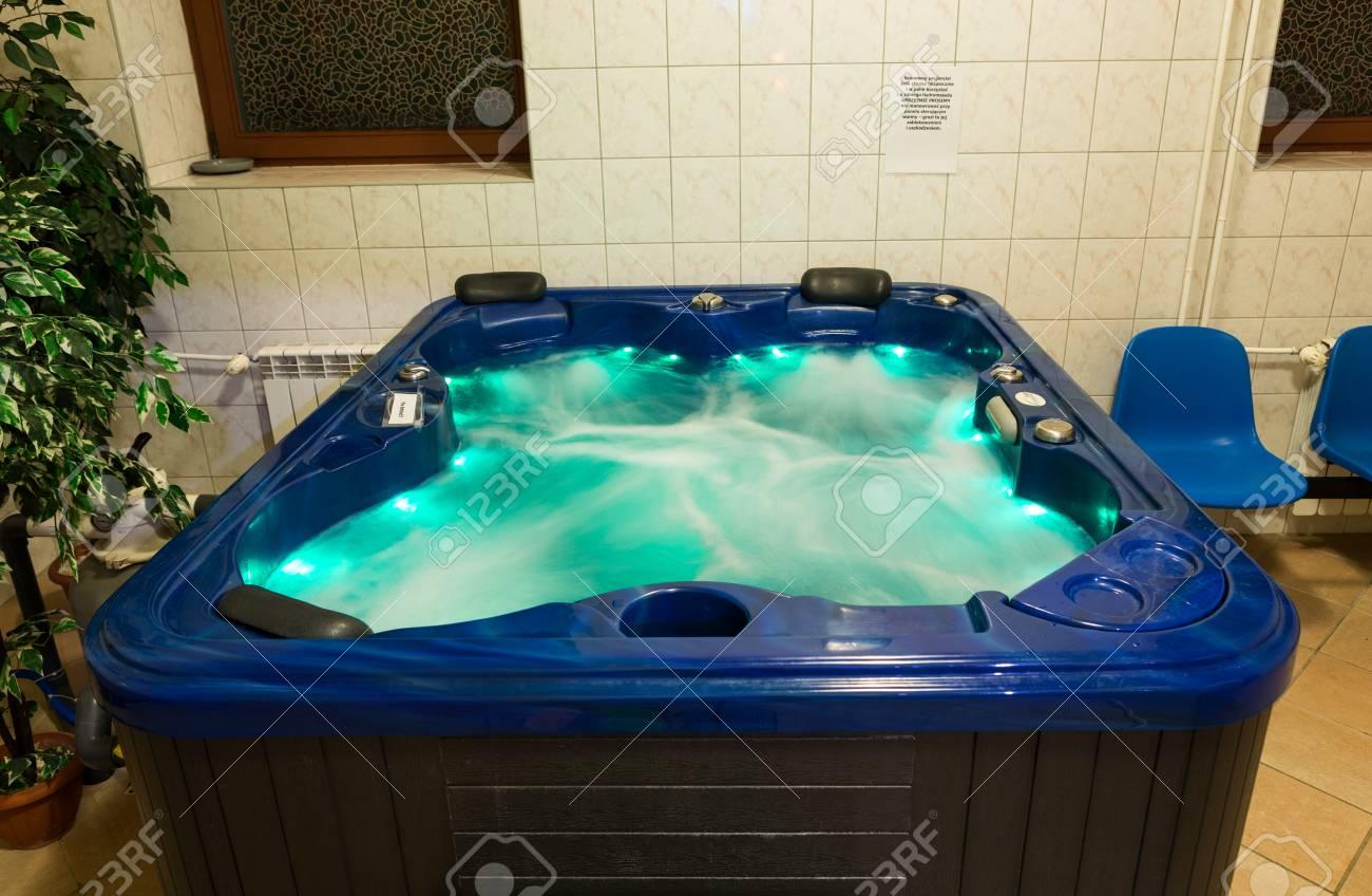 WISLA, POLAND - OCTOBER 23, 2105: Hydromassage Bathtub For Color ...