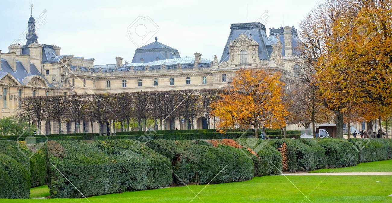 Paris France November 2017 Autumn In The Jardin Des Tuileries