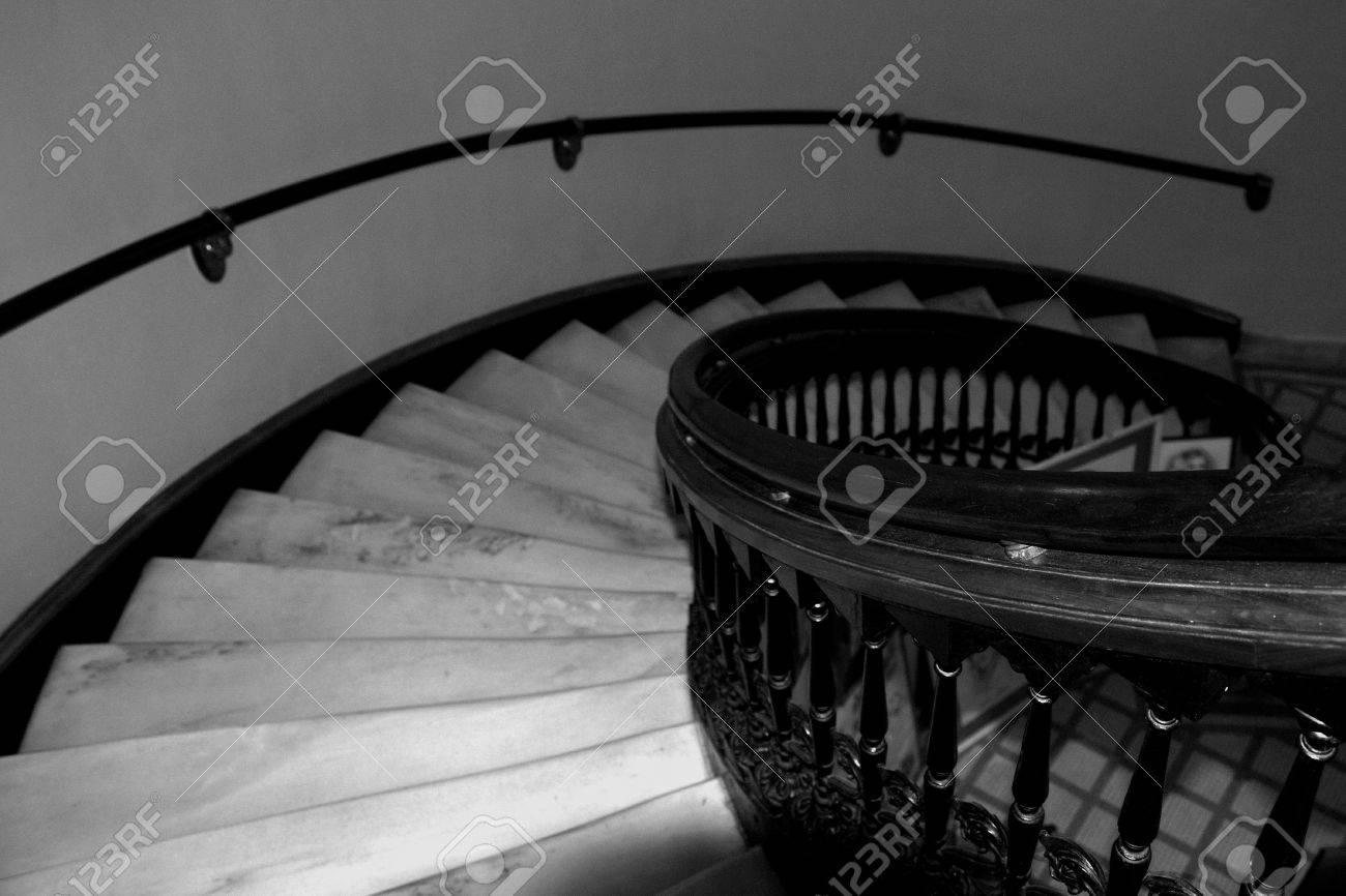 foto de archivo la baja de la escalera espiral