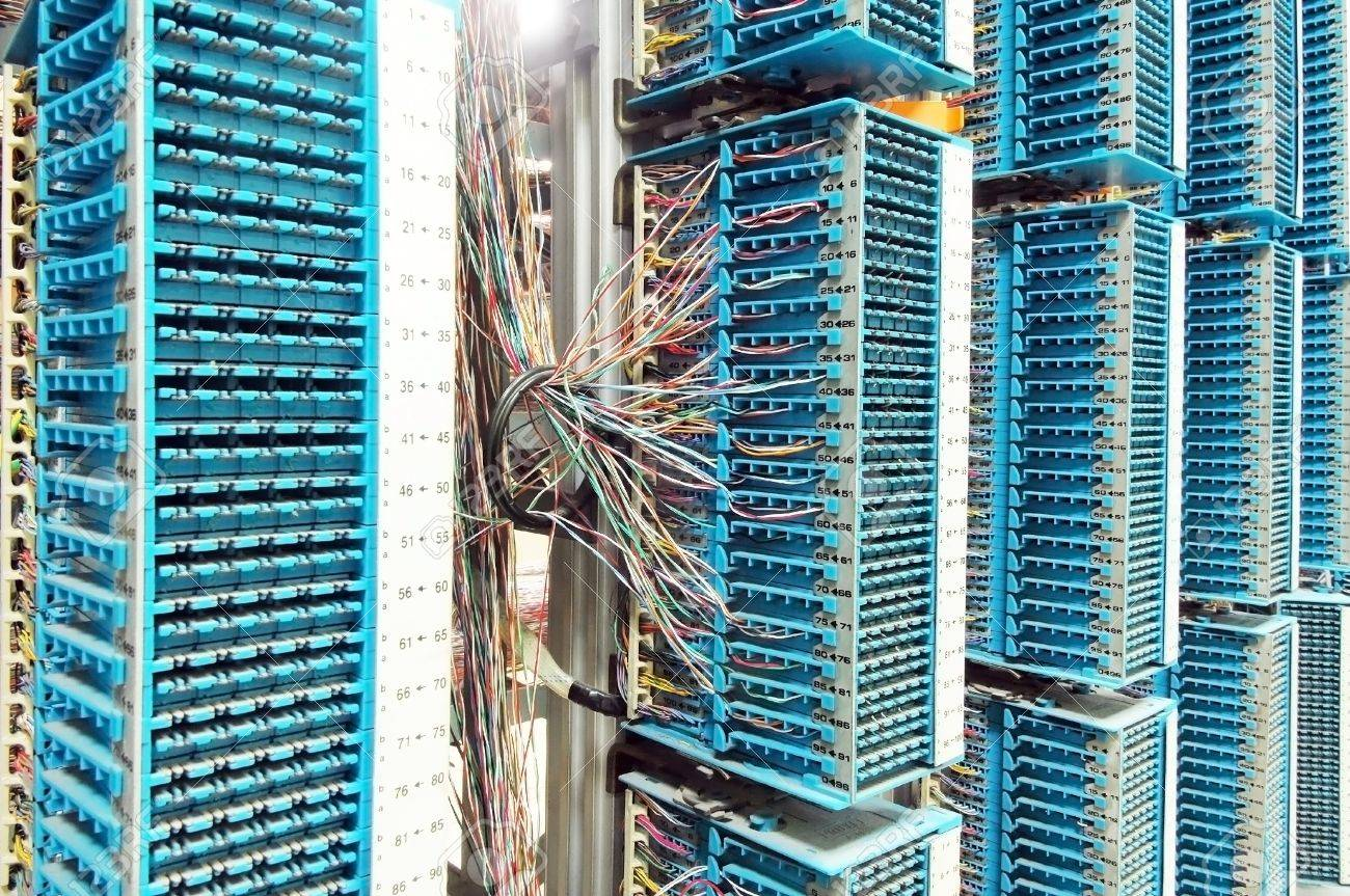 network cables and servers in a technology data center Stock Photo - 9274048