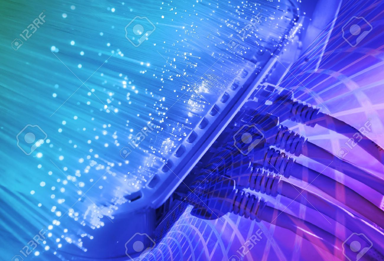 network cables and servers Stock Photo - 8700090