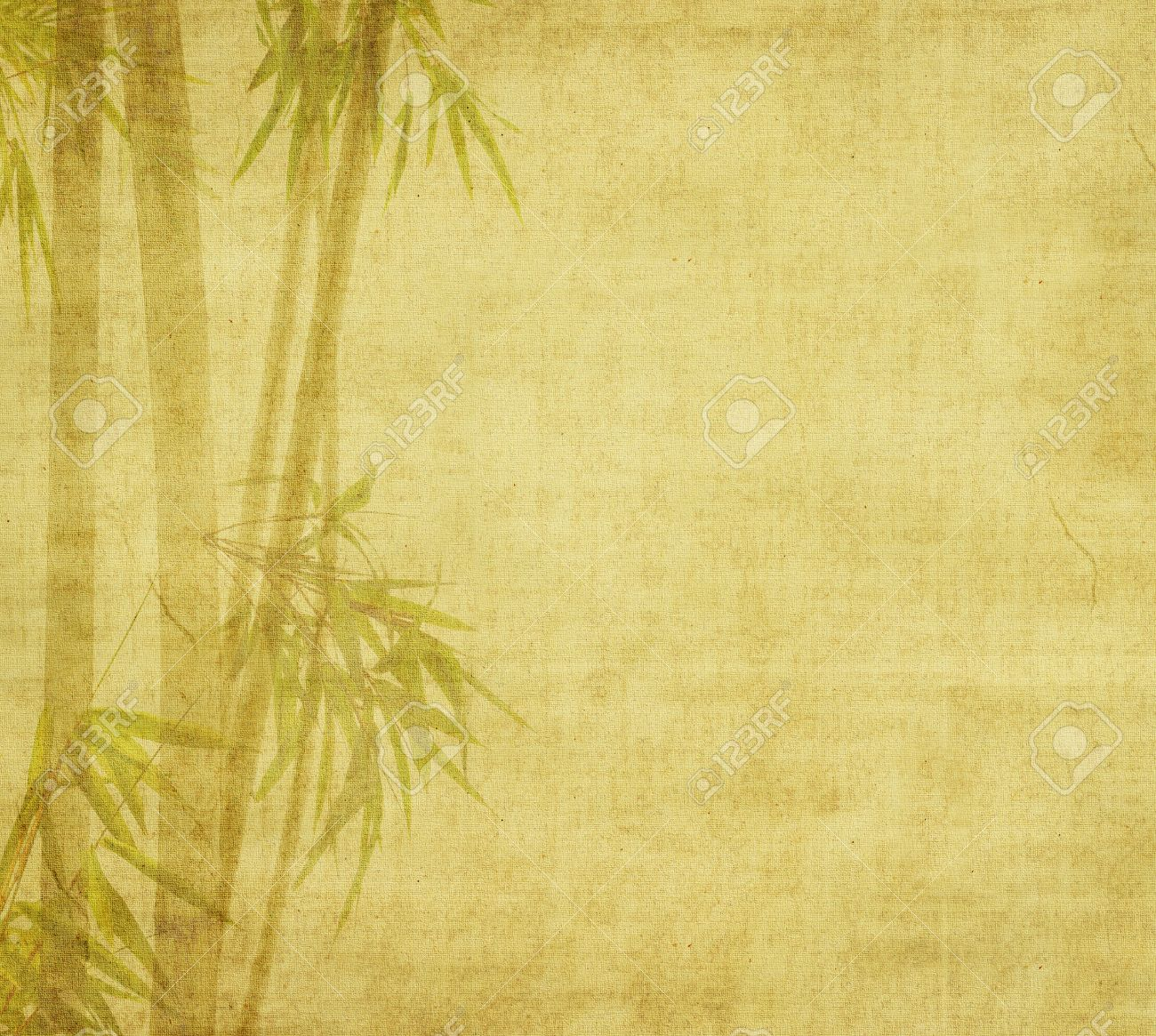 Paper Bamboo Bamboo on Paper Background