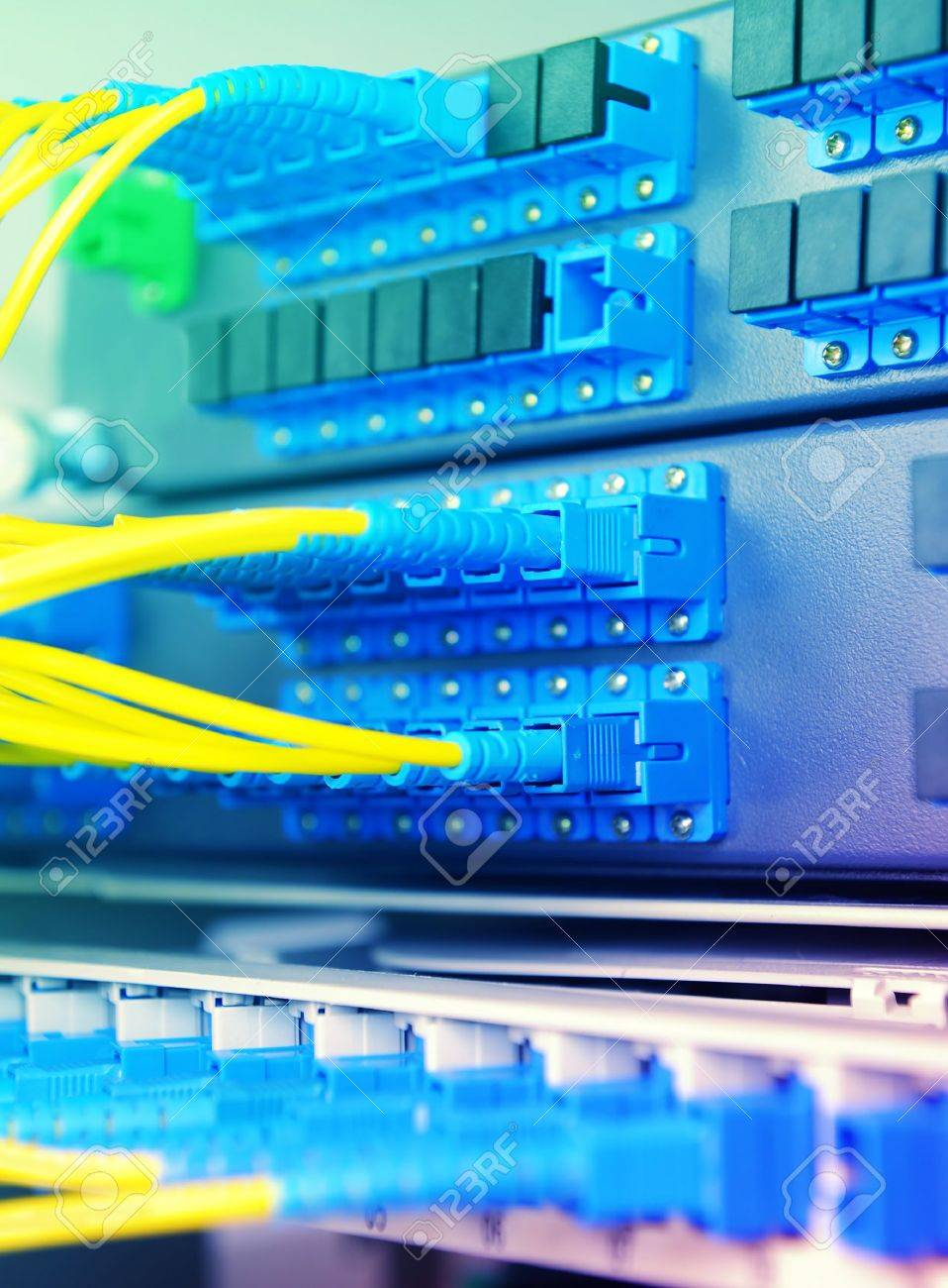 communication and internet network server room Stock Photo - 9777707