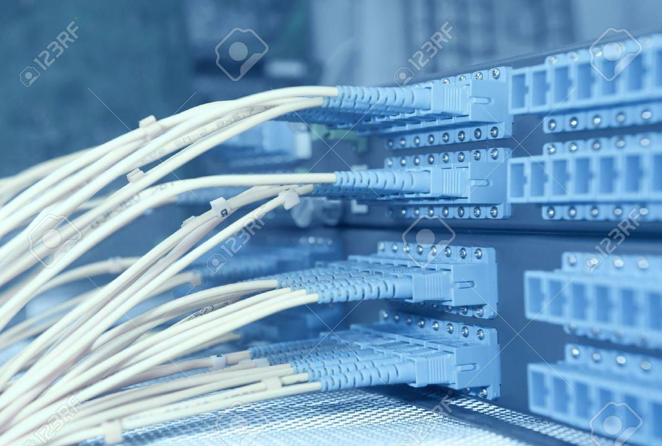 shot of network cables and servers in a technology data center Stock Photo - 10011838