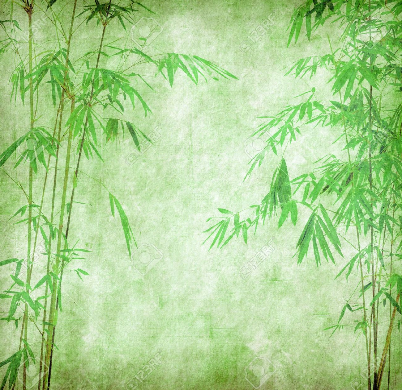 Design Of Chinese Bamboo Trees With Texture Of Handmade Paper Stock Photo Picture And Royalty Free Image Image 10620322