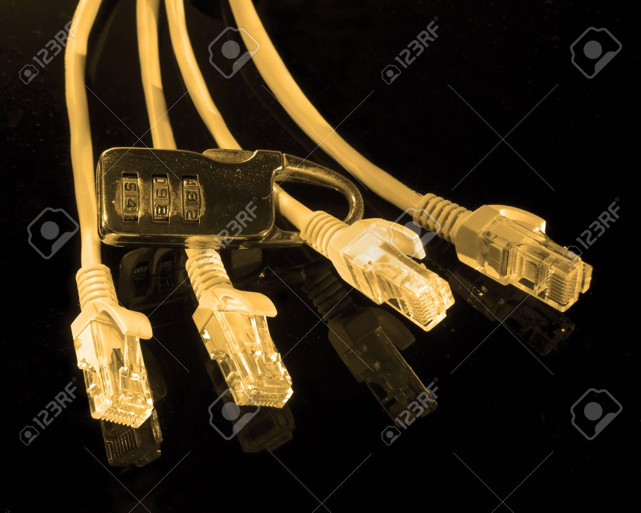 network security with fiber optical background Stock Photo - 11972546