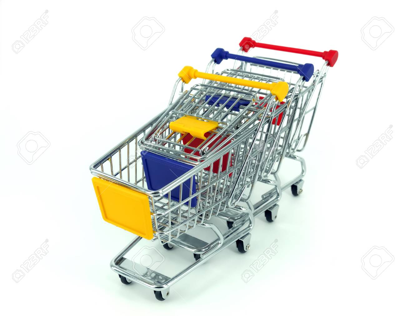 shopping cart over white background Stock Photo - 11519290