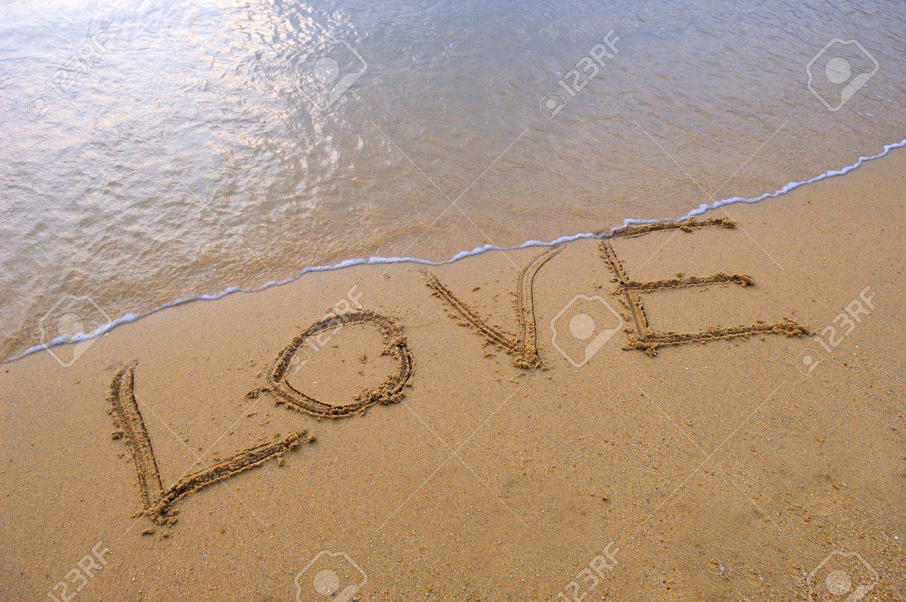 Love in the sand Stock Photo - 11737100