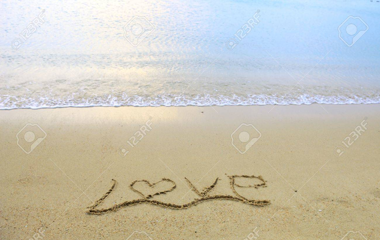 Love in the sand Stock Photo - 11966295