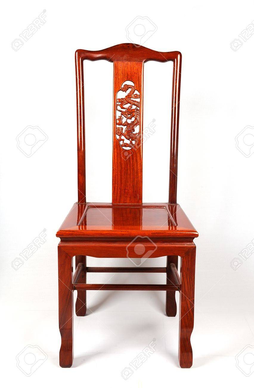 Chinese Antique Ming Style Furniture Chair Made From Elm Wood Stock Photo    13405543