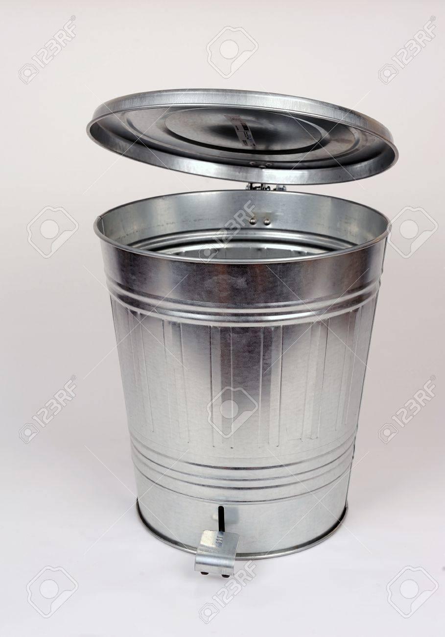 Steel trash can Stock Photo - 13856136