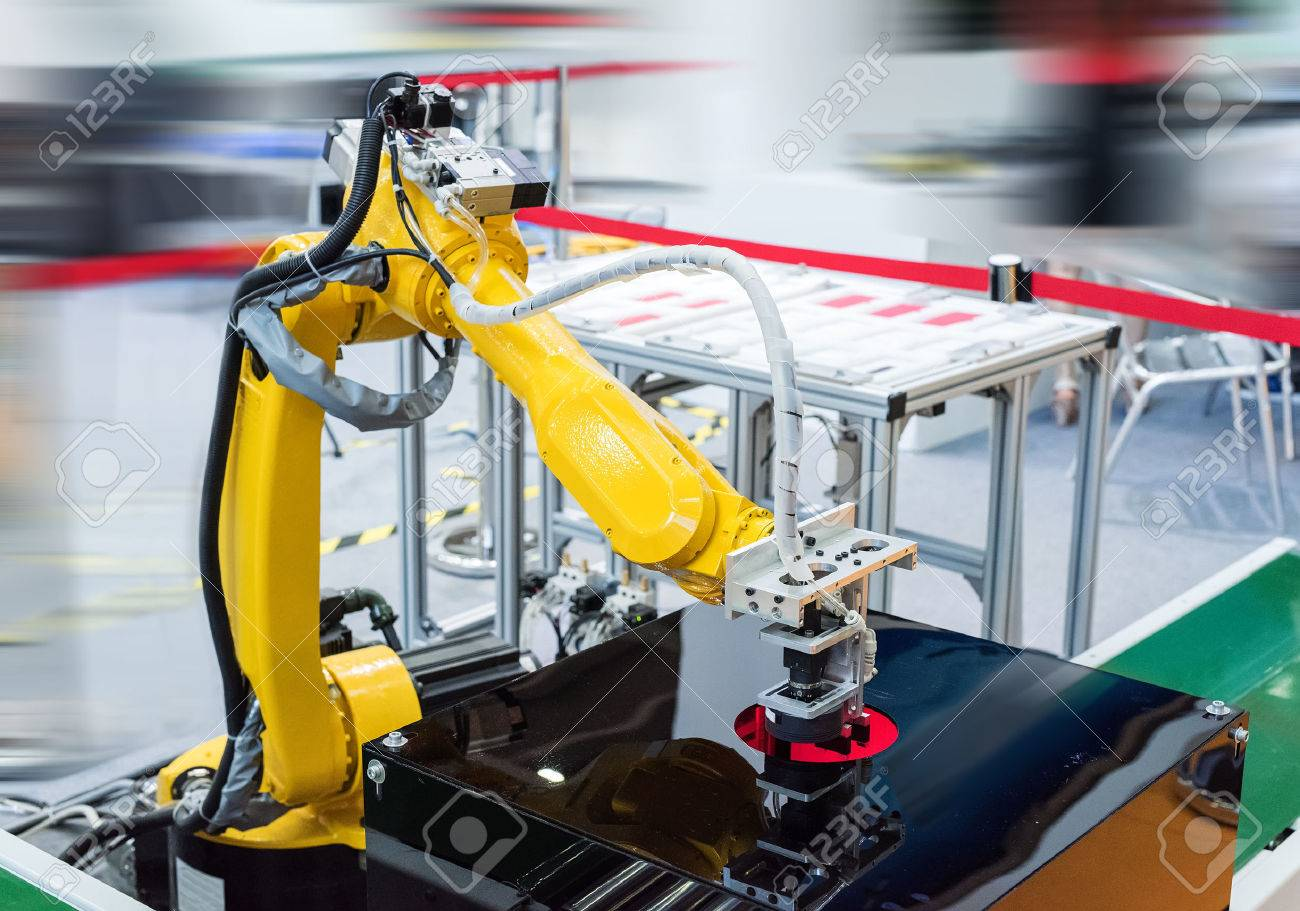 robotic hand machine tool at industrial manufacture factory - 59453326