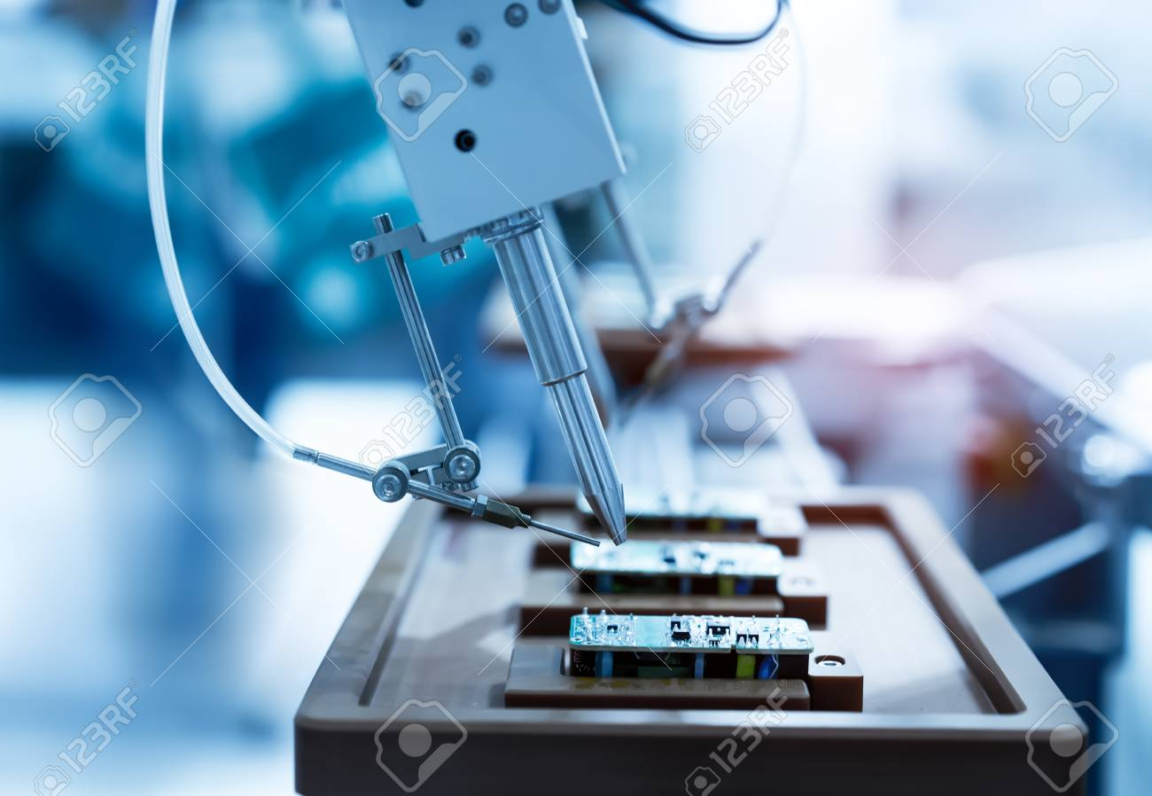 Soldering Iron Tips Of Automated Manufacturing And Stock Free Image Printed Circuit Board Sciencestockphotoscom Assembly Pcb Photo 100592872