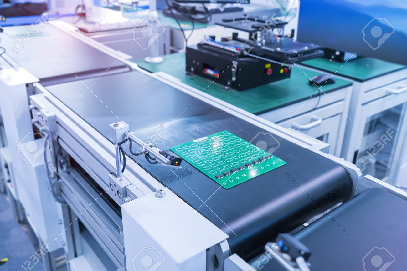 Automated Manufacturing Soldering And Assembly Pcb Board Stock Photo Printed Wiring Manufacturers 107632910