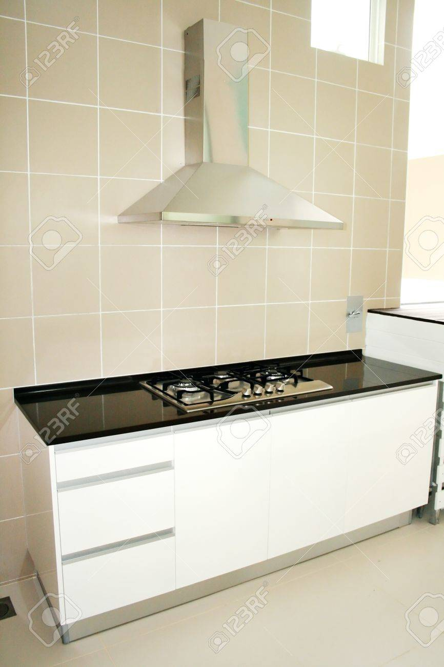 Kitchen Stove With Modern Conceptual Design Stock Photo, Picture And ...