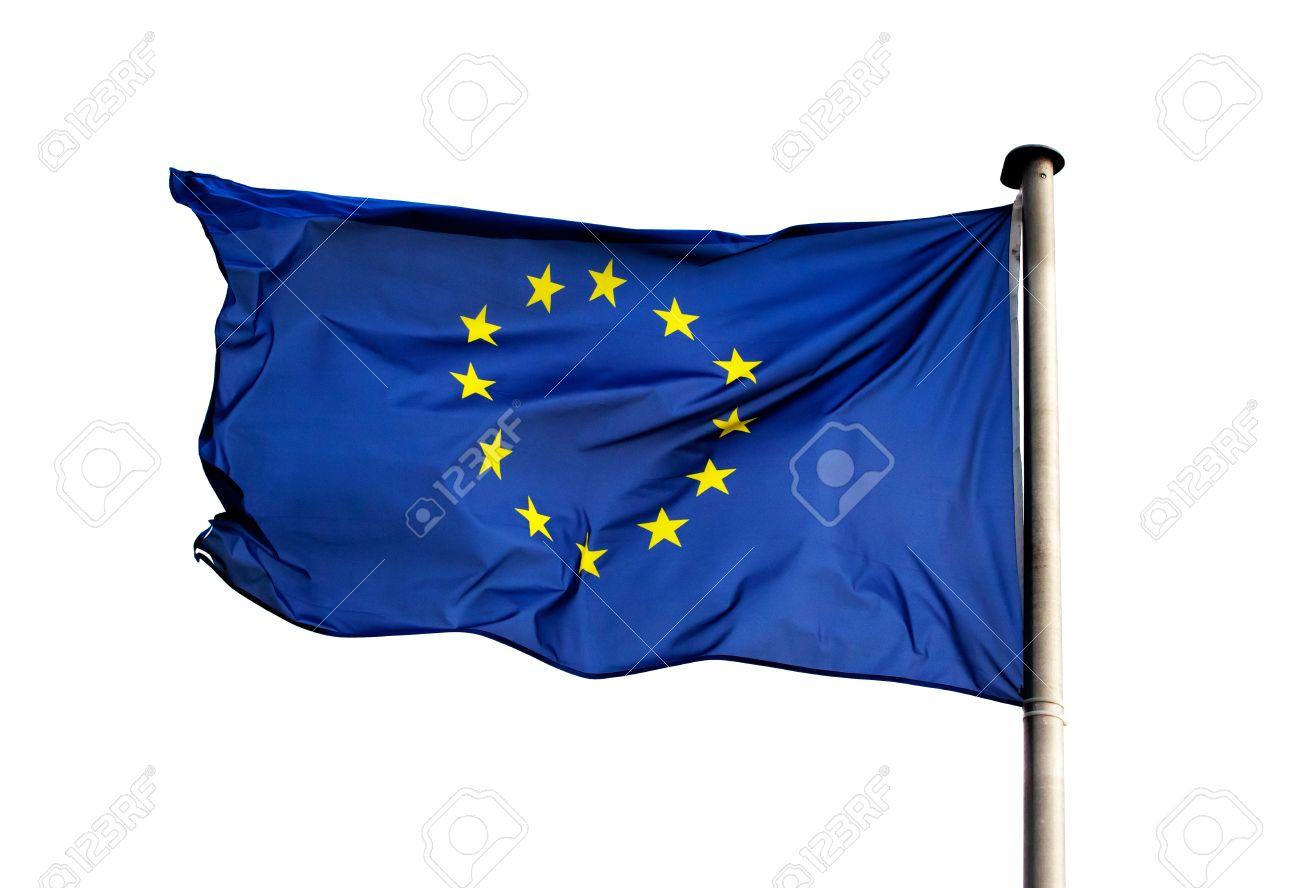 A flag of European Union on white background - 21249770