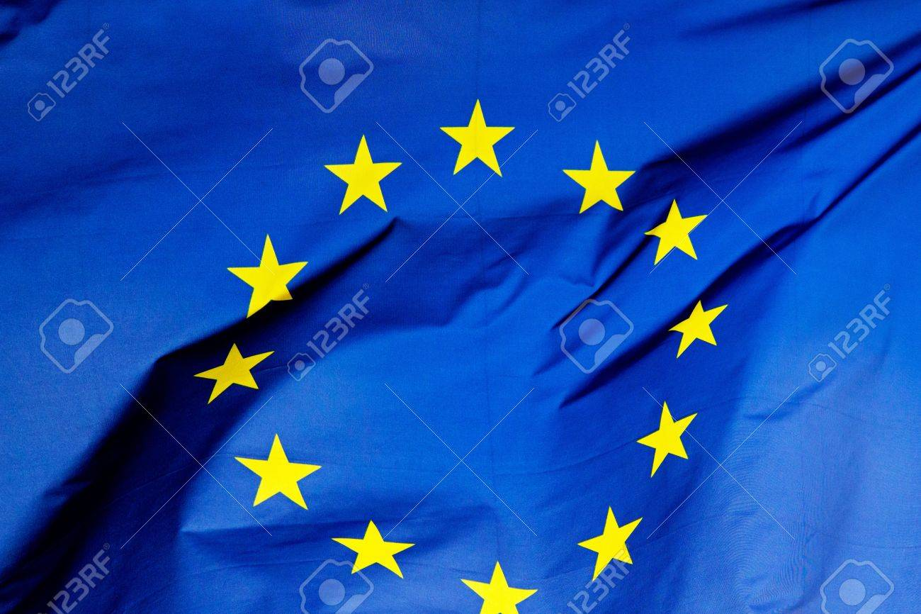 A fragment of the flag of European Union - 21249775