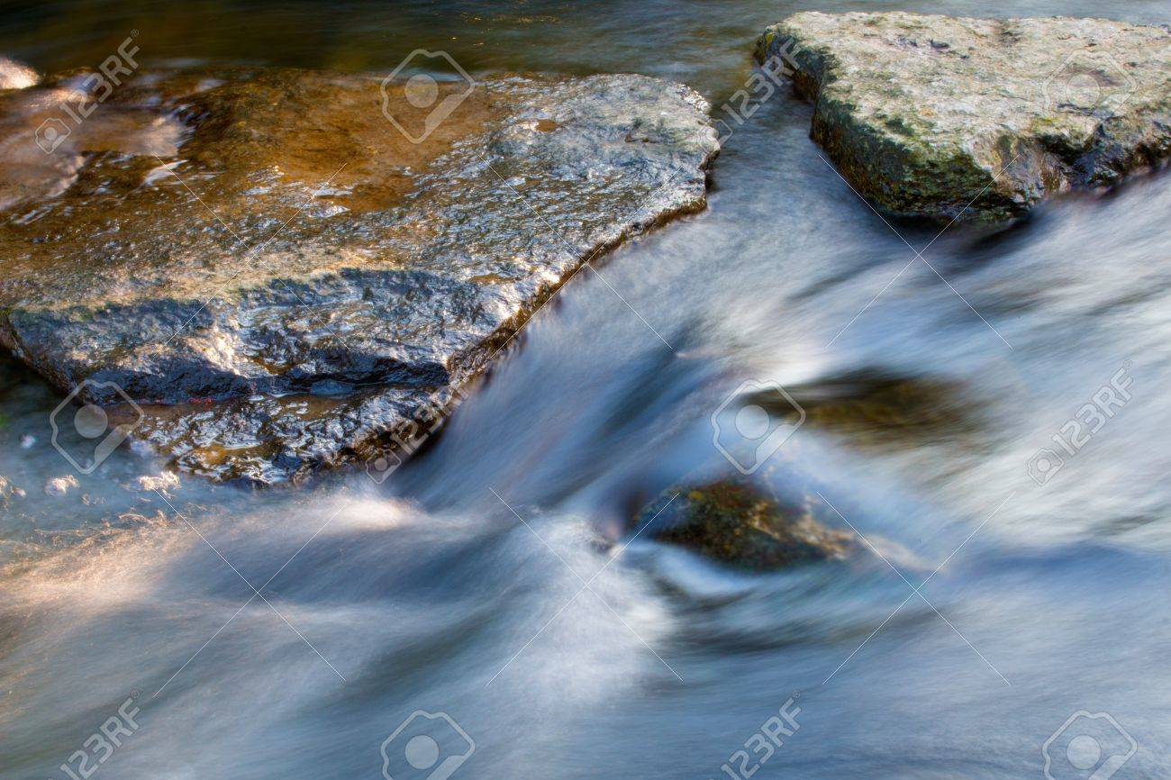 The stones in the stream of creek - 21249851