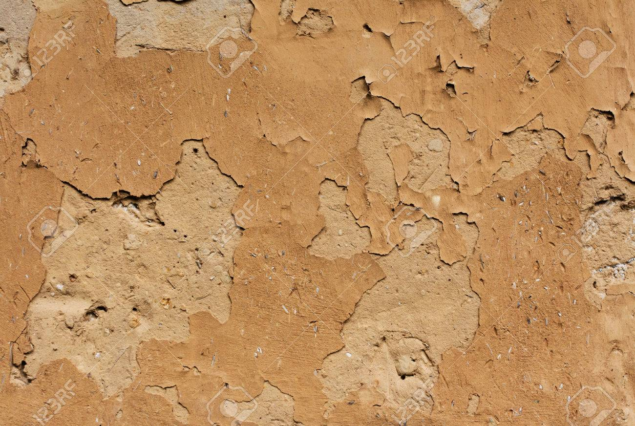 Adobe wall of the old house - 23492104