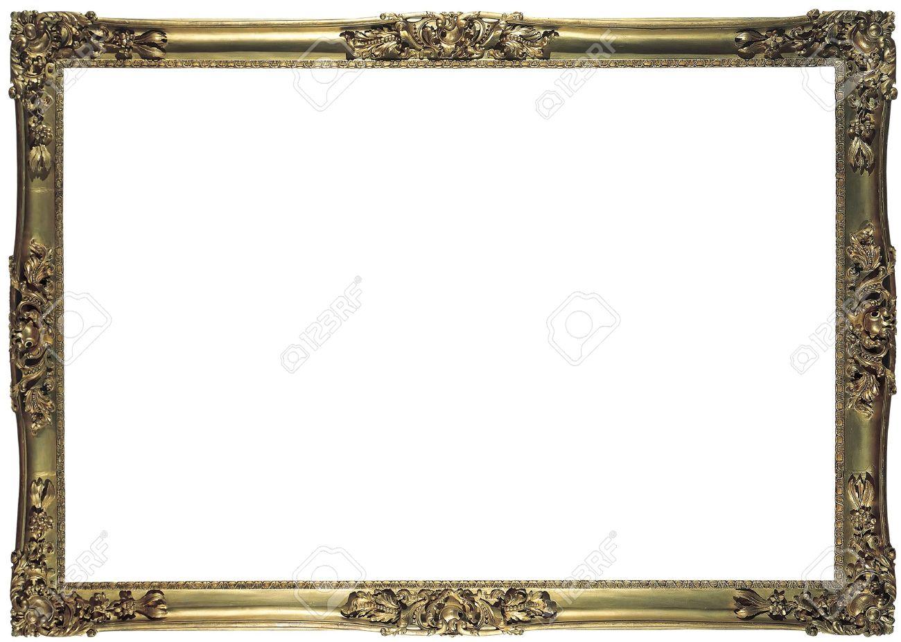 Antike Bronze Rahmen Für Ein Bild Isoliert Lizenzfreie Fotos, Bilder ...