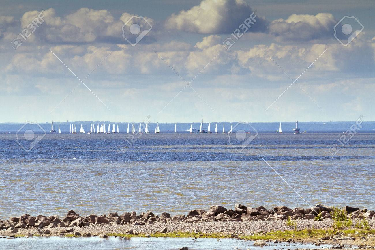 Image result for sailing ships coming over the horizon, their sails like clouds