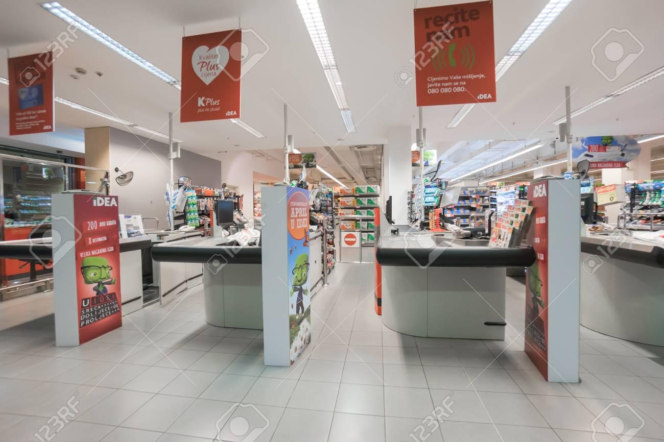 podgorica montenegro april 19 2016 interior of a modern stock