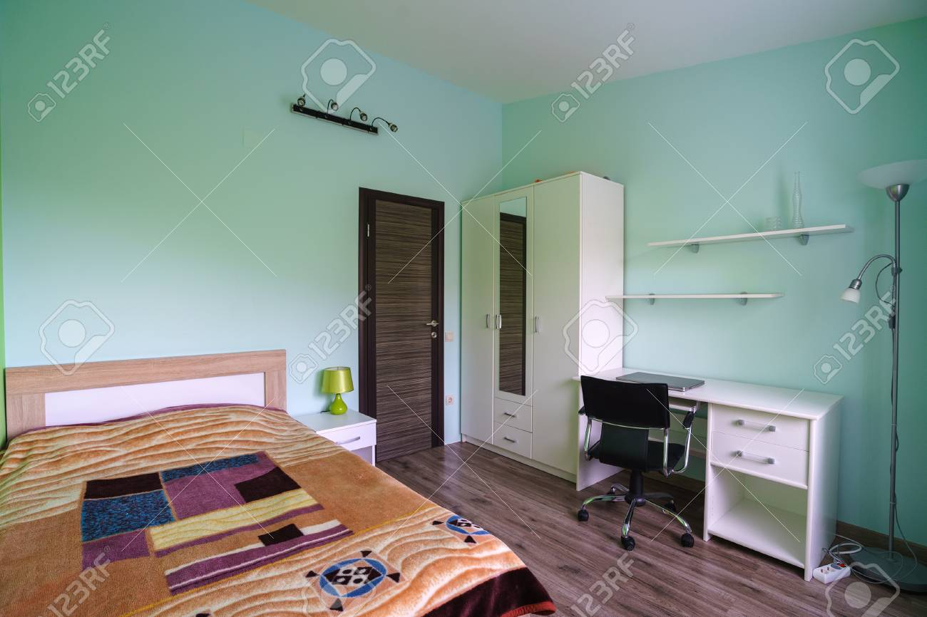 Children S Room With A Computer Desk And A Bed In It Stock Photo Picture And Royalty Free Image Image 93252865