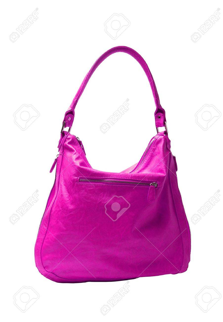 Pink women bag isolated on white background Stock Photo - 10559569