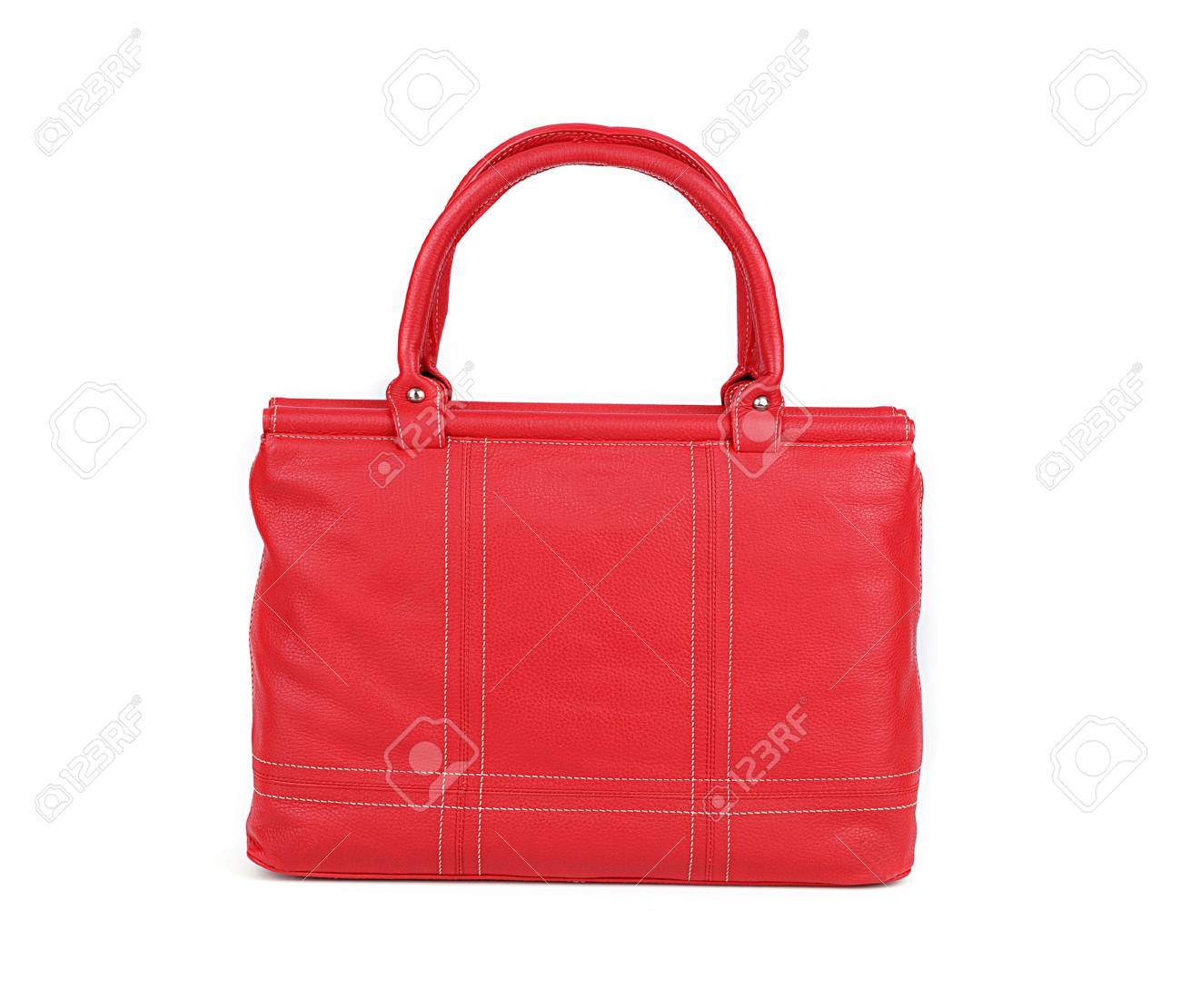 Red women bag isolated on white background Stock Photo - 14823132