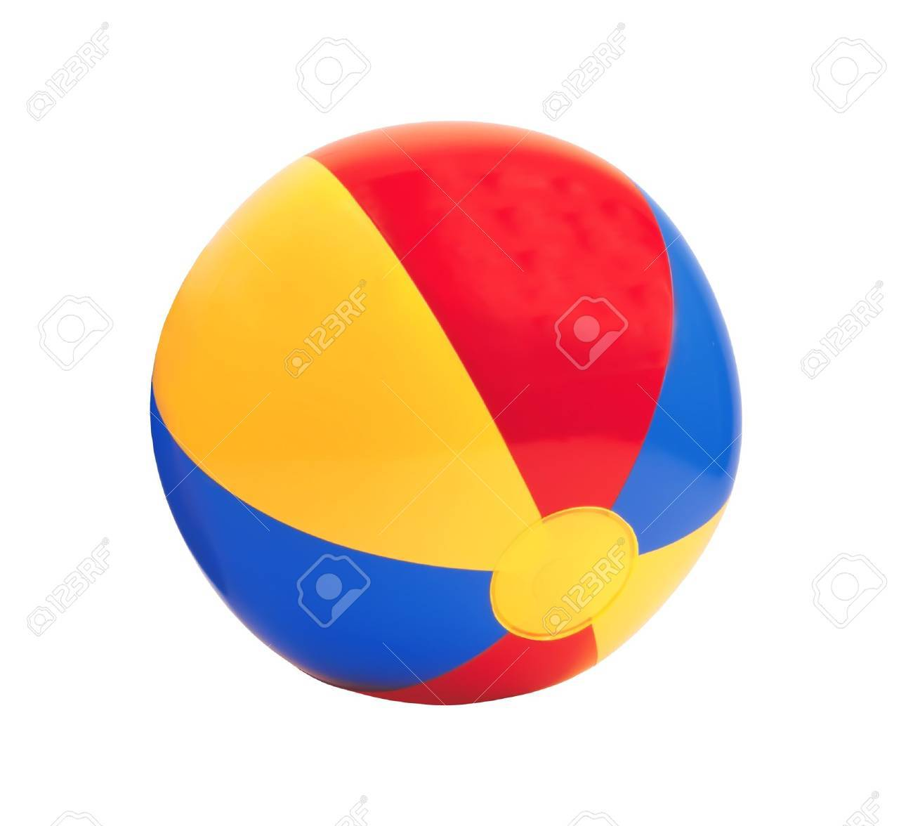 bright inflatable ball isolated on white background Stock Photo - 14901114