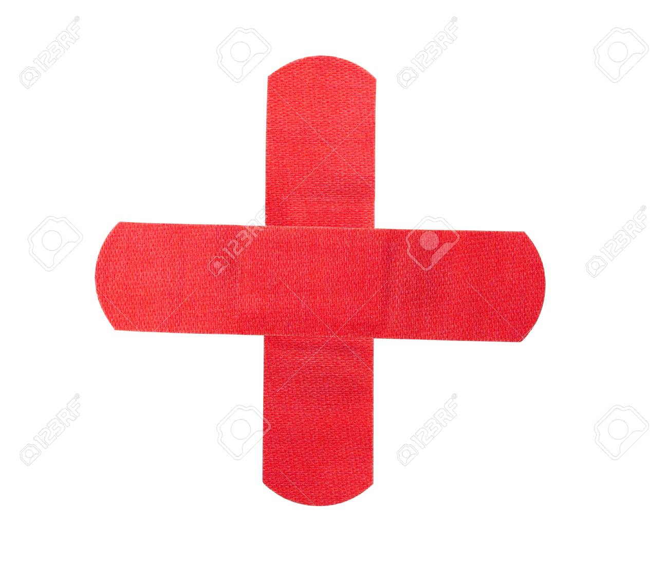 Red medical patch isolated on white Stock Photo - 15898827