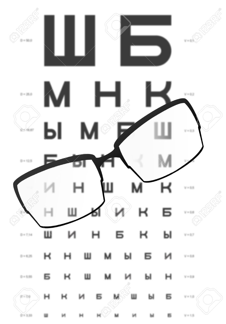 Glasses on the table with eye test chart in the backgroundfor glasses on the table with eye test chart in the backgroundfor distance vision test geenschuldenfo Image collections