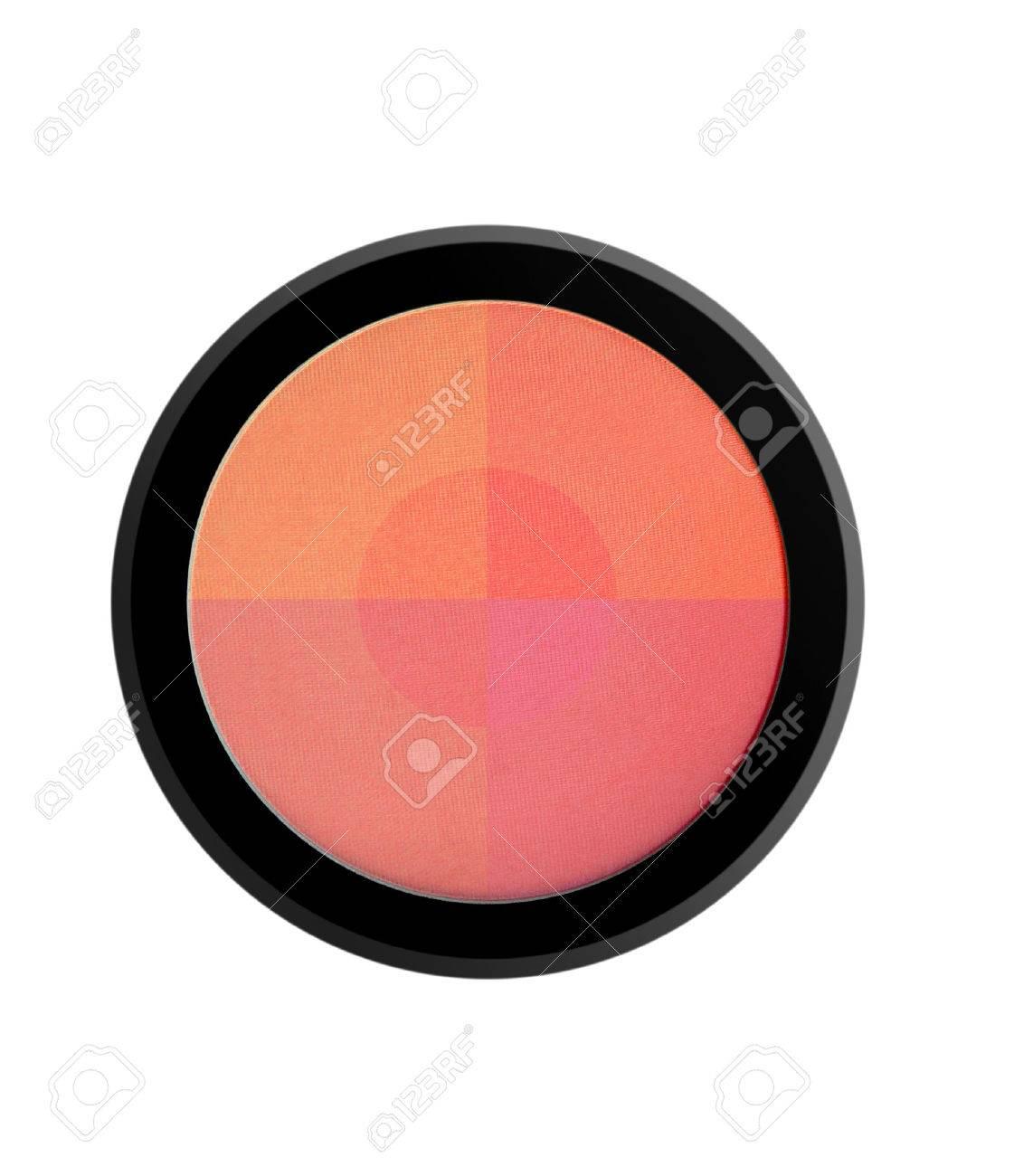 face powder blush isolated on white background - 43132080
