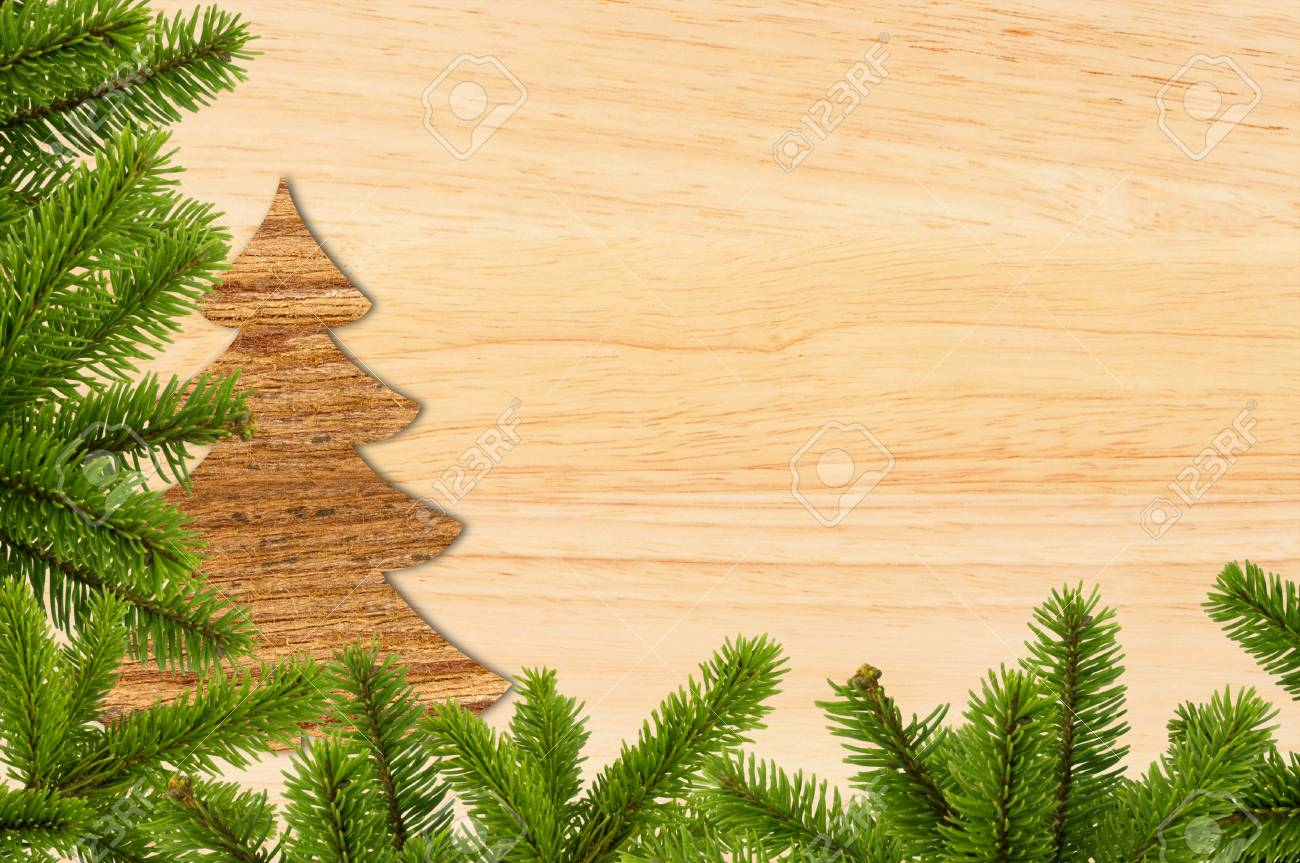 Vintage Christmas Background Old Wood Board With Green Christmas Stock Photo Picture And Royalty Free Image Image 48545953