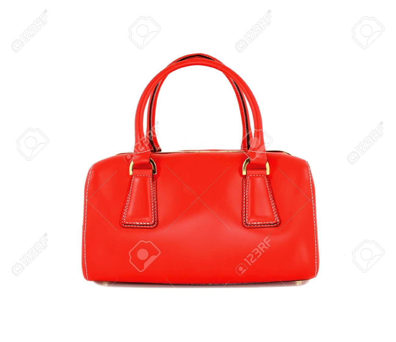 5361b70f11a14 Red women bag isolated on white background Stock Photo - 70978294