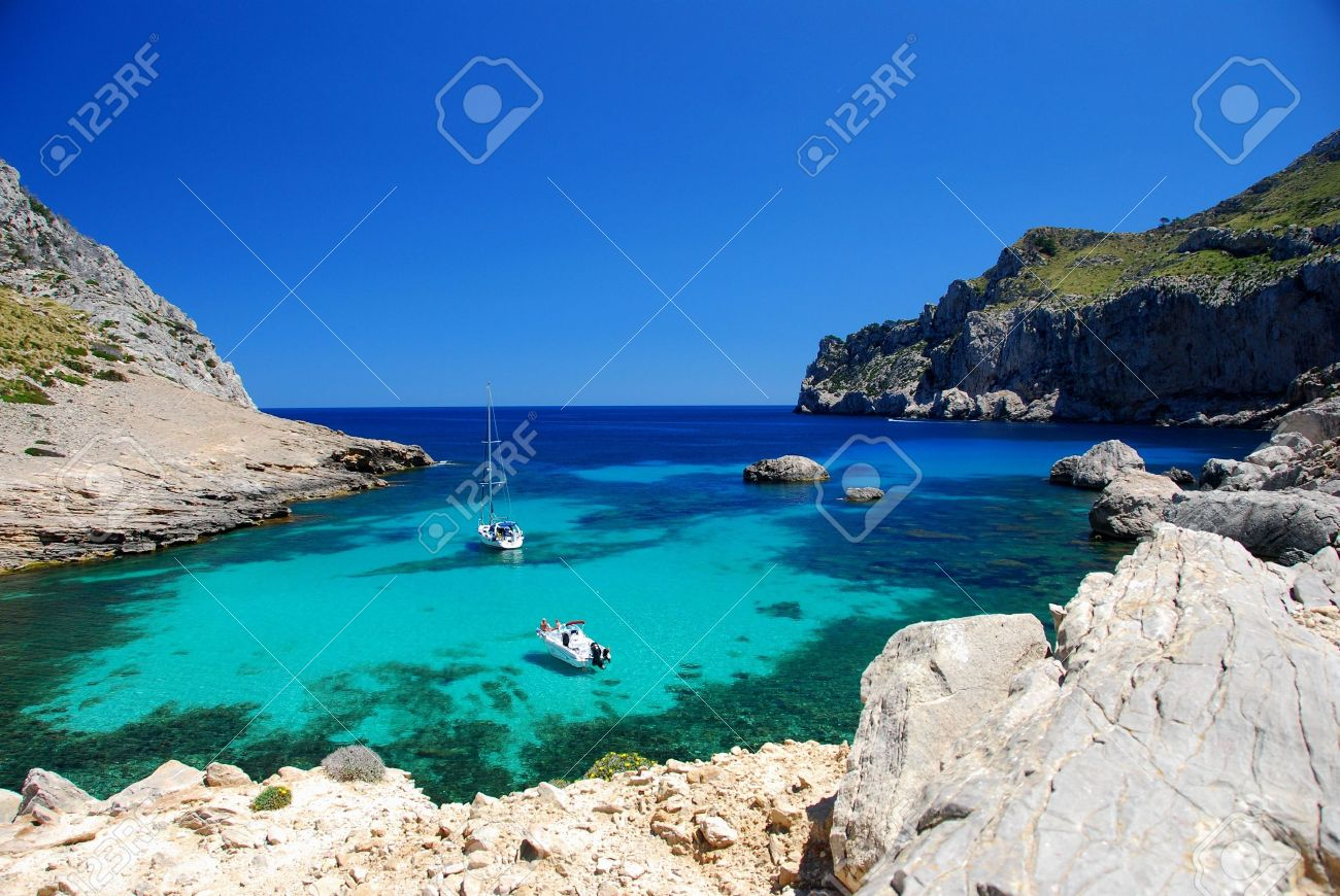 beautiful beach on the island mallorca Stock Photo - 3746989