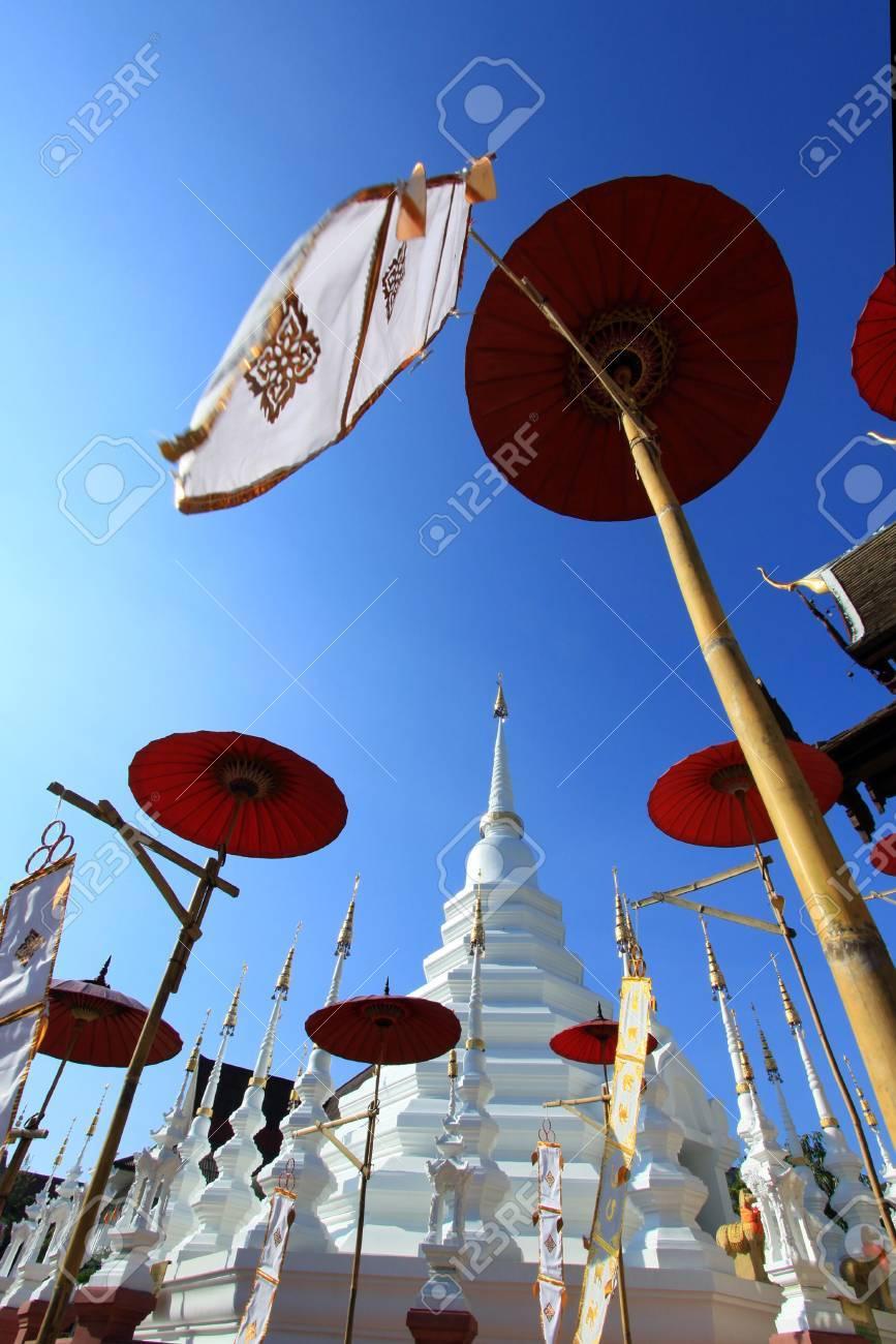 Beautiful temple and buddha in Thailand : Chiangmai (Wat pun tao) Stock Photo - 9680839