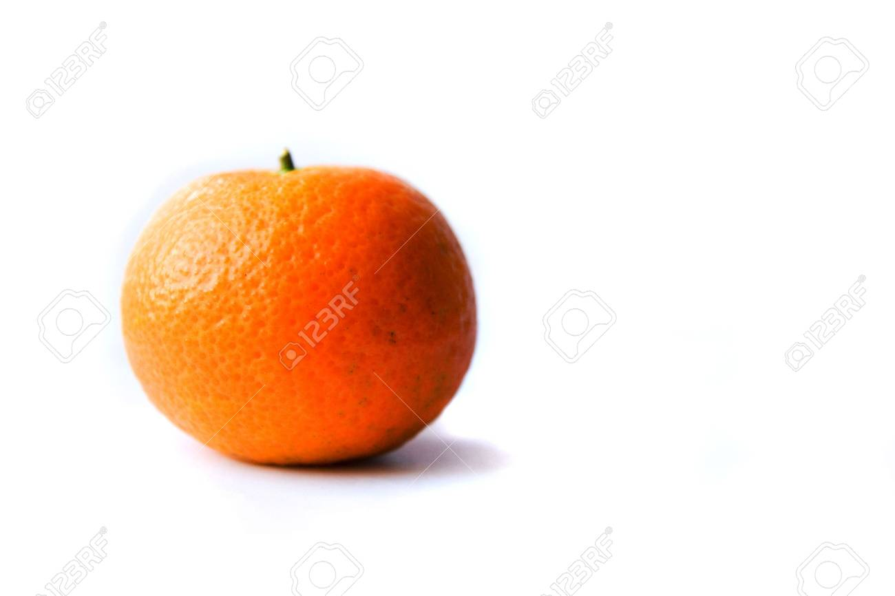 Tangerines on a white background Stock Photo - 6060744