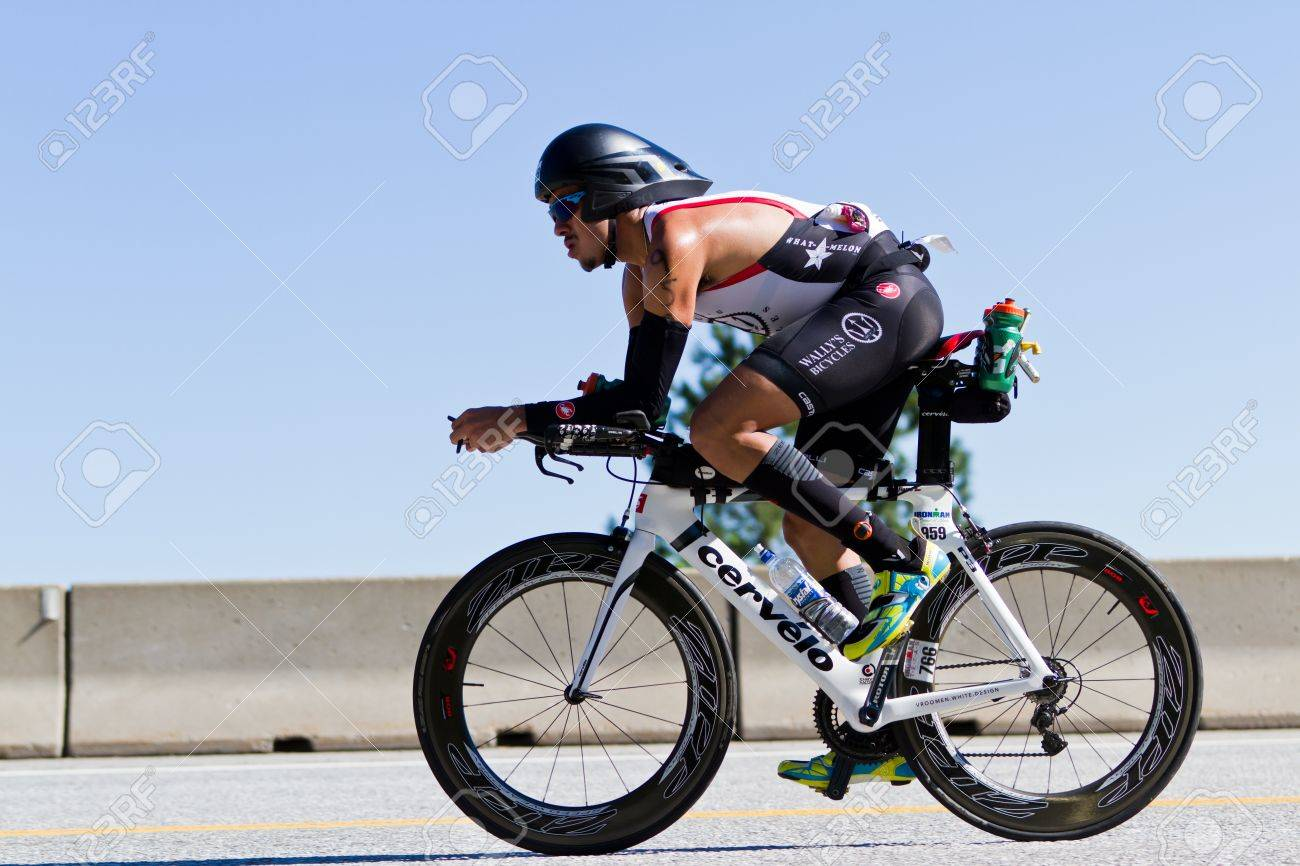 COEUR D ALENE, ID - JUNE 23: Billy Flores, Triathlete on the