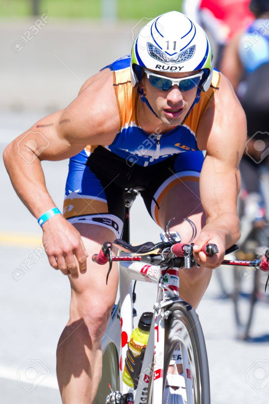 COEUR D ALENE, ID - JUNE 23: Nathan Birdsall, Triathlete on