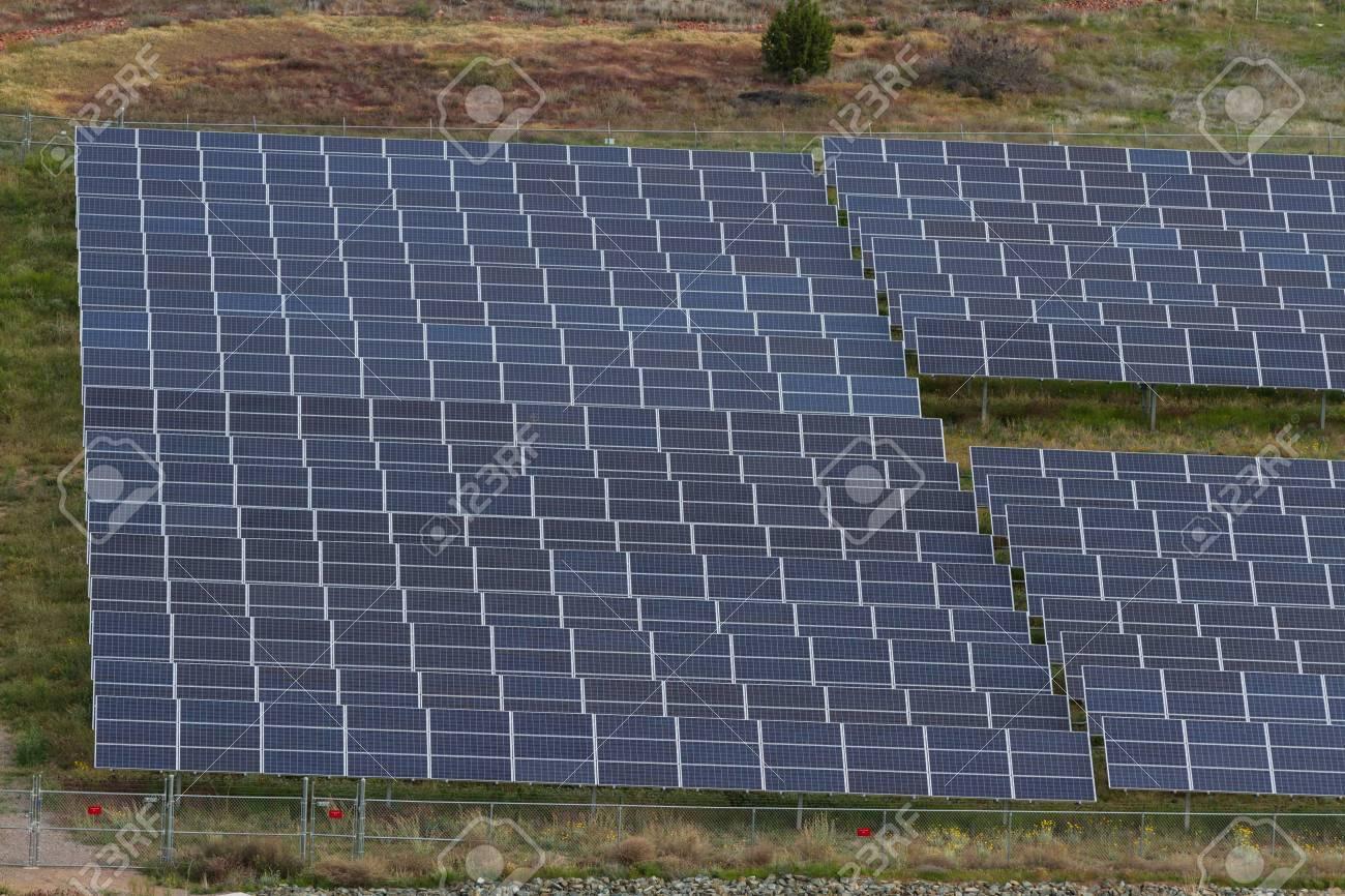 vast amount of solar panels in the desert of Arizona