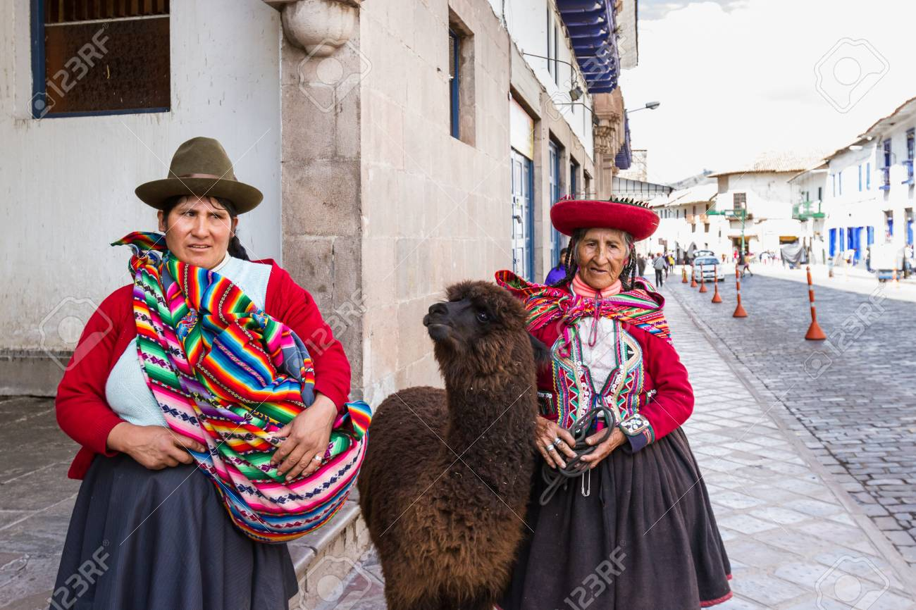 Cusco Peru May 14 Native Peruvian Women In Cusco Dressed Stock Photo Picture And Royalty Free Image Image 64780862