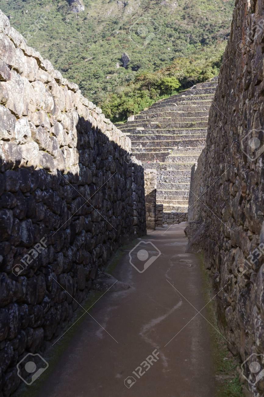 Lavori In Pietra.Machu Pichu Peru Lavori In Pietra Utilizzati Nella Costruzione Di Machu Pichu