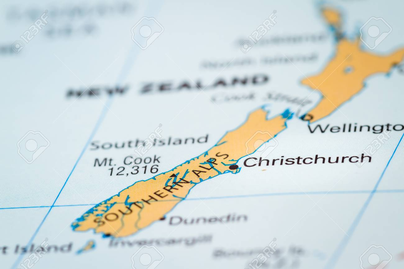 World map with the country of new zealand in focus stock photo stock photo world map with the country of new zealand in focus gumiabroncs Choice Image