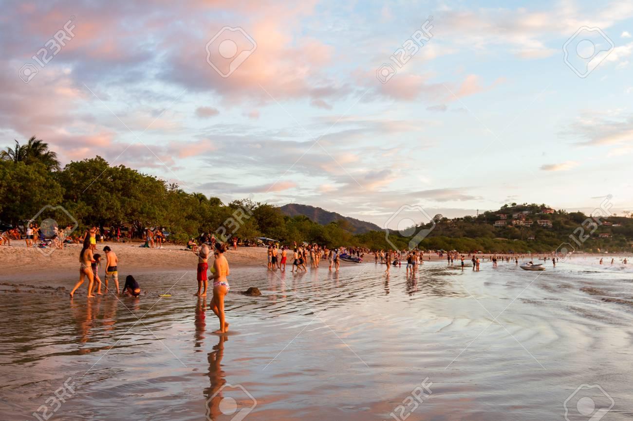 Playa Flamingo Costa Rica December 30 People Enjoying The Last Days Of 2017