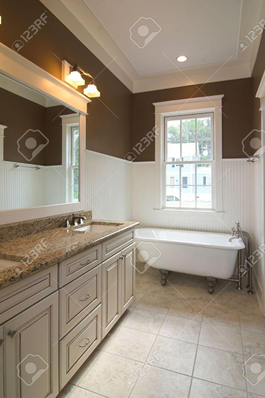 modern bathroom with clawfoot tub. elegant modern bathroom with clawfoot tub Stock Photo  2159187 Elegant Modern Bathroom With Clawfoot Tub Picture And