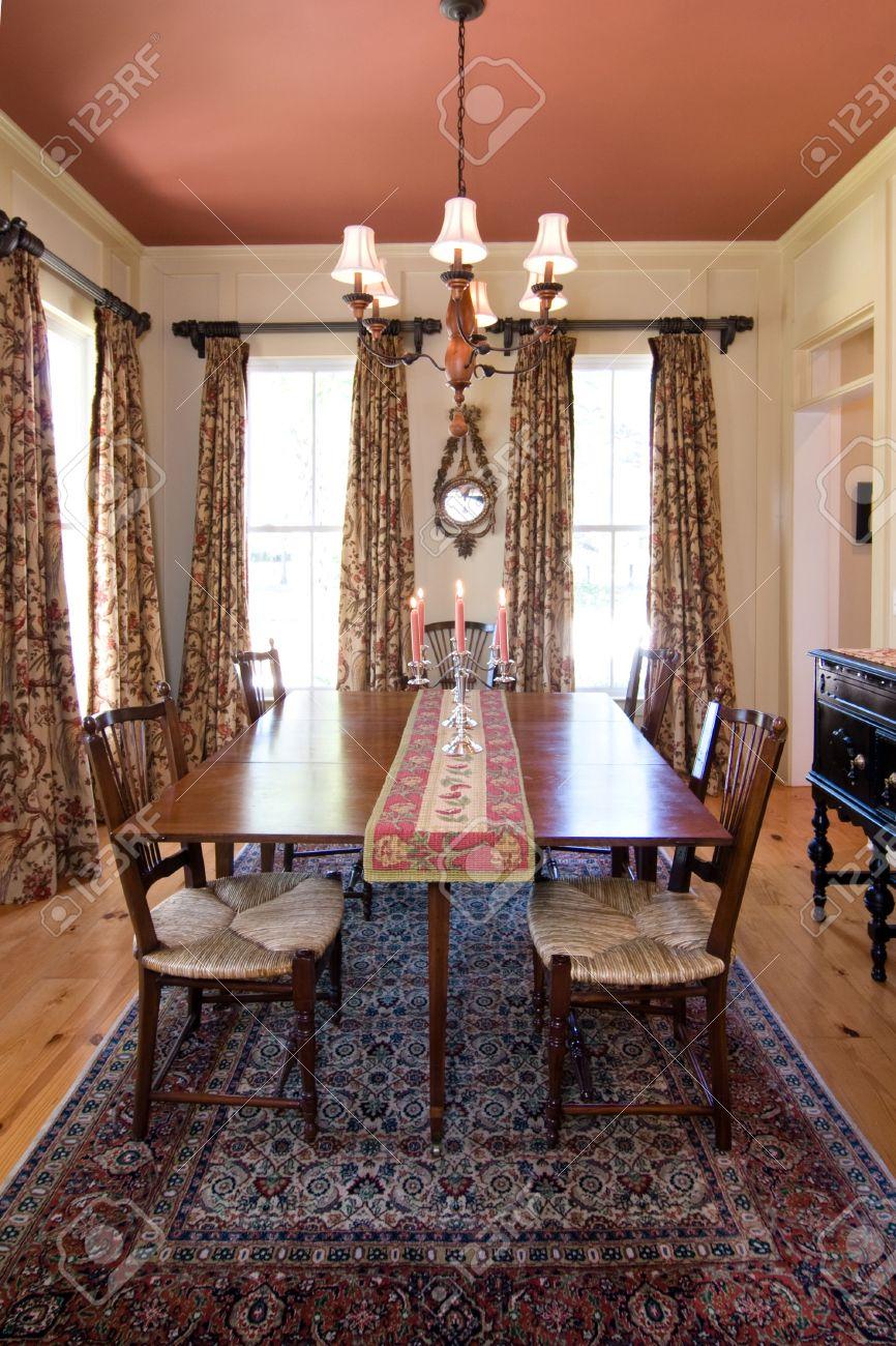 Diningroom, Essen, Zimmer, Tabelle, Kerzenständer, Farbe, Haus, Home ...