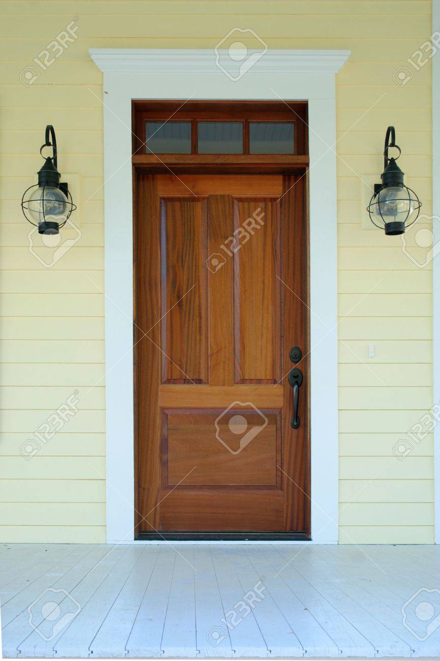 simple entrance to house with lanterns Stock Photo - 2196641
