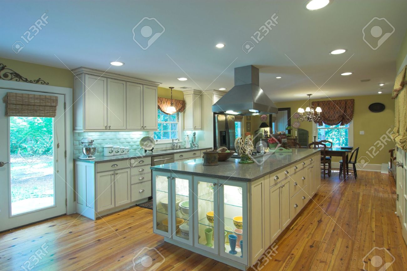 Large Open Kitchen And Diningroom Stock Photo, Picture And Royalty ...