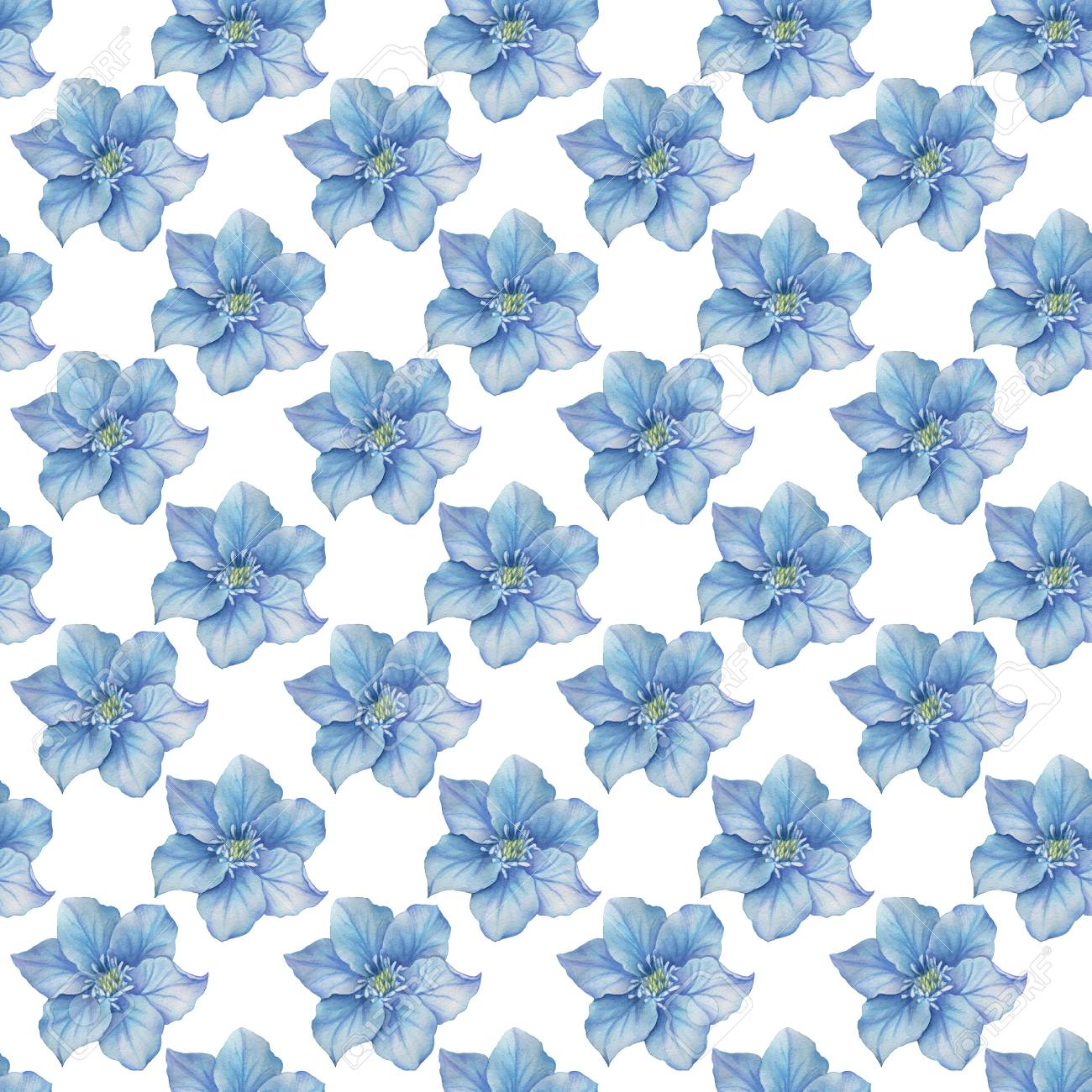 Watercolor flowers seamless pattern. Bright colors watercolor background. - 67462525